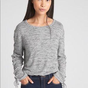 GAP Softspun Stripe Lace Up Shirt